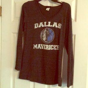 Gray Dallas Mavericks long sleeve tee XL